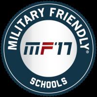 Millersville University is a 2017 Military Friendly School